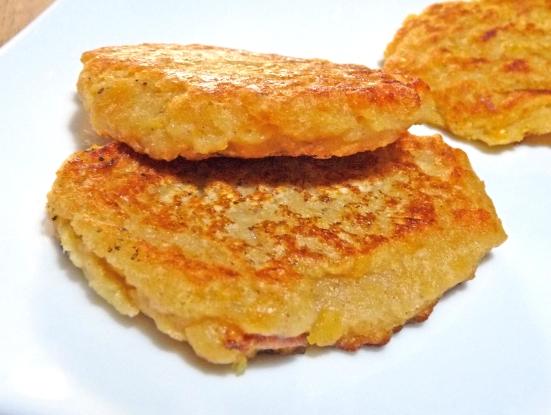 Croquettes riz-lentilles corail