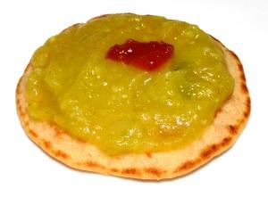 Végé-bliniset purée de courgettes au curry
