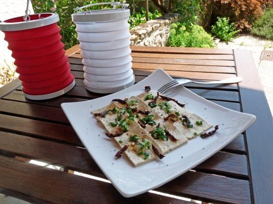 Carpaccio de tofu