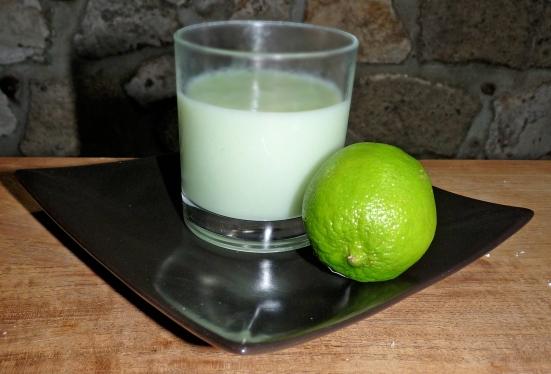Crème au citron vert vegan