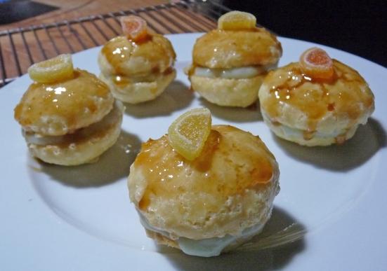 Whoppies à la fleur d'oranger et crème de citron vert (végé et gluten free)