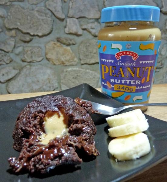 Coeur coulant au beurre de cacahuète
