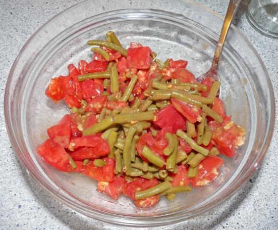 Salade tomates/haricot-verts
