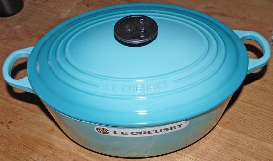 Cocotte Le creuset bleue