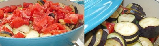 Ratatouille en cours de cuisson