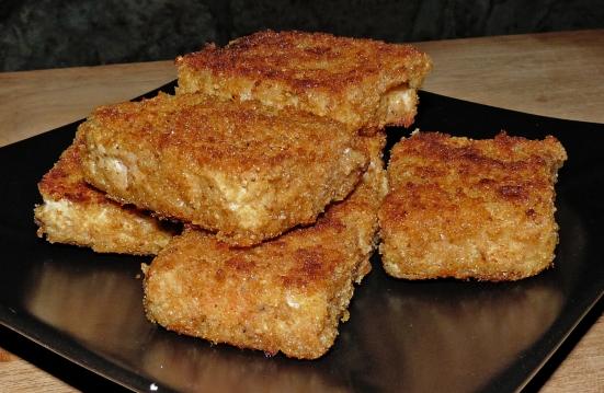 Tempeh panné (réalisé avec du tempeh de lentilles corail)