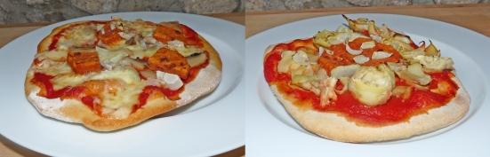 Pizza végétarienne et végétalienne