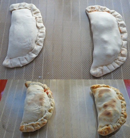 Pizzas calzones