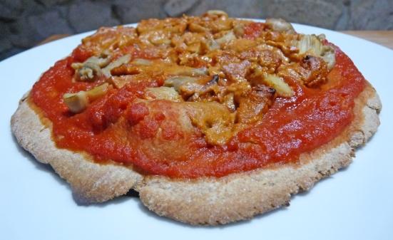 Pizza au végé-fromage à gratiner