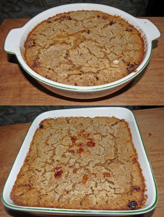 Pudding aux pépites de chocolat et pudding aux raisins secs