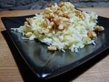 Salade de choux râpé, pomme râpée etnoix