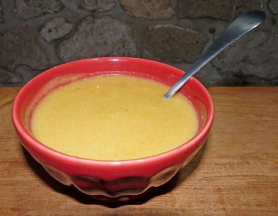 Velouté de courge, choux-fleur et crème de coco