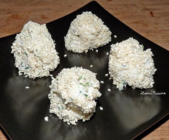 Boulettes de riz au fromage frai végétal