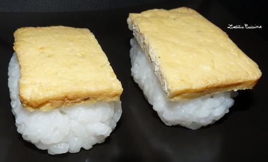 Sushis aux filets de tofu à la japonaise