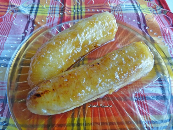 Bananes flambées au rhum ambré Bologne