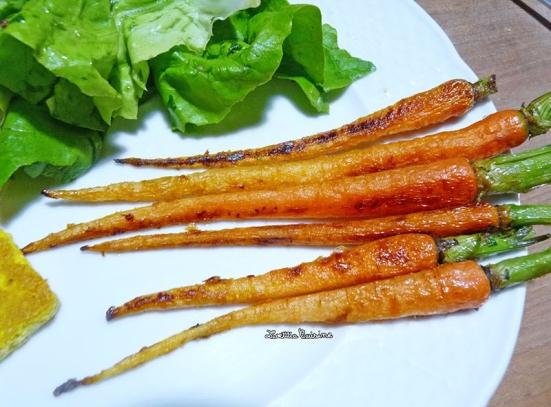 Petites carottes confites
