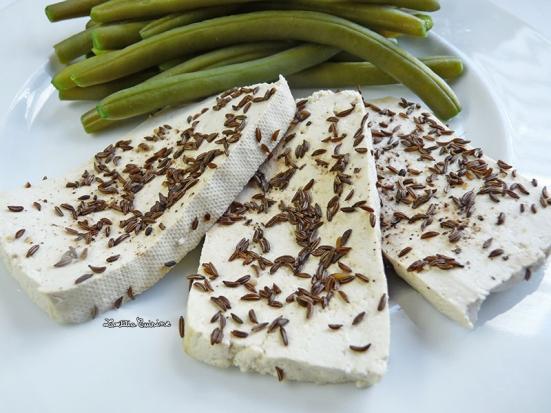 Tofu vapeur au cumin