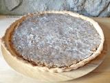 Gâteau à la noisette (spécialité dans le canton de Neuchâtel) + variante rhubarbe-amandes  {Vegan}