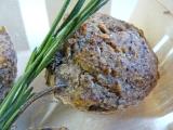 Muffins salés à la farine de lentilles vertes, aux champignons et auromarin