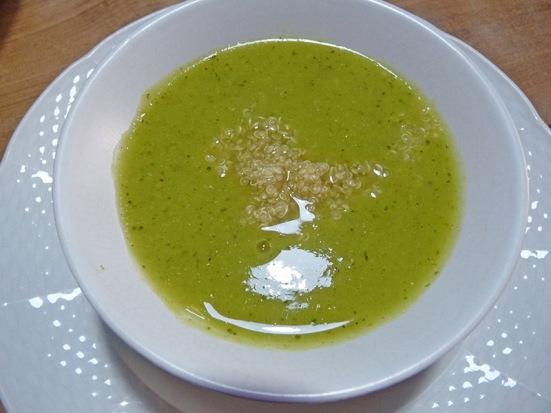 Potage brocoli, choux-fleur, fenouil, curcuma et quinoa