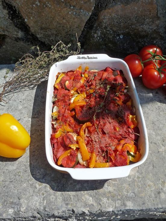 Ratatouille au four à la quinoa et thym frais