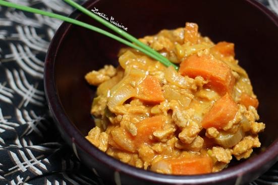 Mafé de PST et carottes