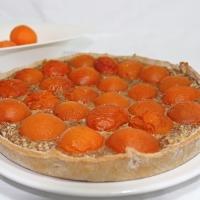 Tarte amandine aux abricots du valais {Végane}