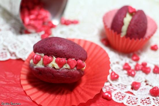 Red velvet whoopies (vegan et sans gluten)