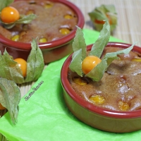Clafoutis aux physalis (vegan)