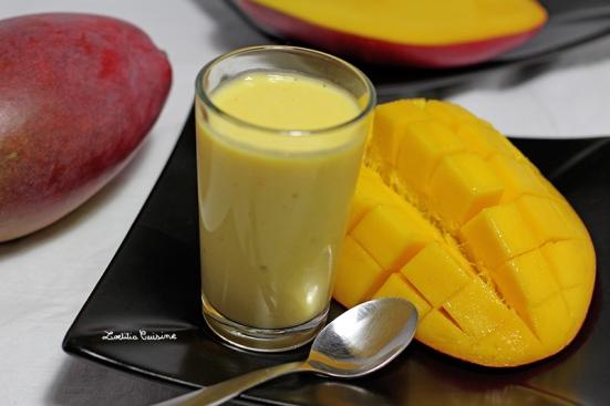 Crème de mangue façon lassi