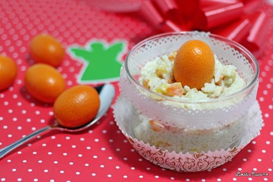 Riz au lait de noël aux épices et kumquat