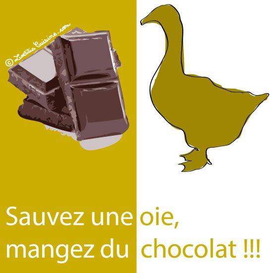 Sauvez une oie, mangez du chocolat !