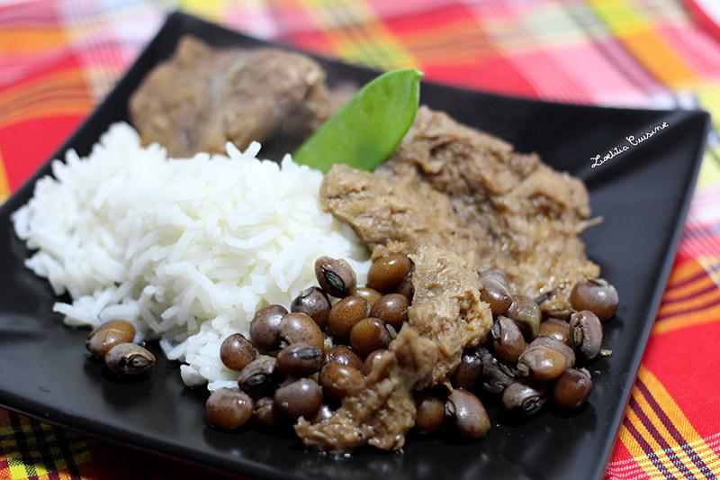 Menu Repas De Noel Antillais.Ragout De Pois D Angole Aux Pst Loetitia Cuisine Vegan
