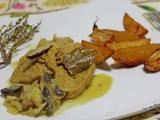 PST aux champignons sauce moutarde et potatoesmaison