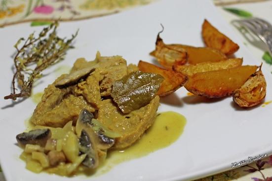 PST aux champignons sauce moutarde et potatoes maison