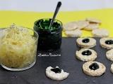 Salade de choucroute crue au citron, ail et gingembre et tartines de crème de spiruline à l'orangesanguine