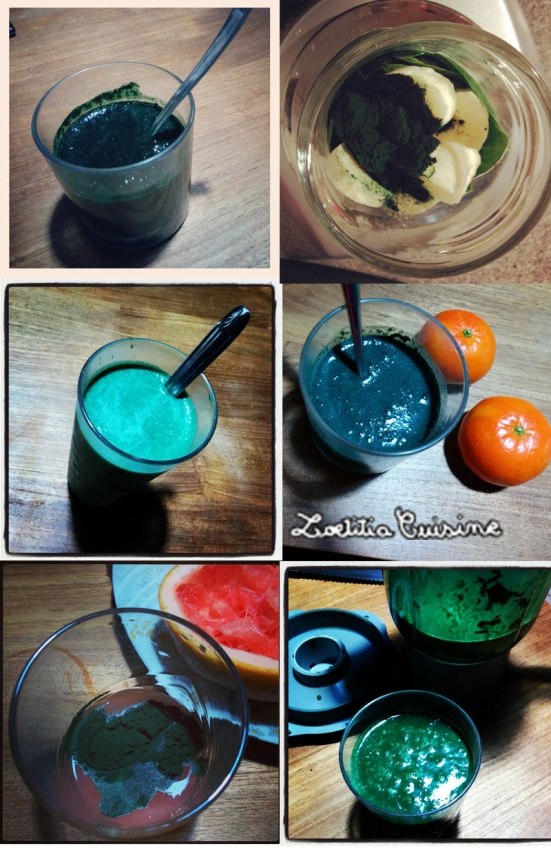 spiruline smoothies et jus