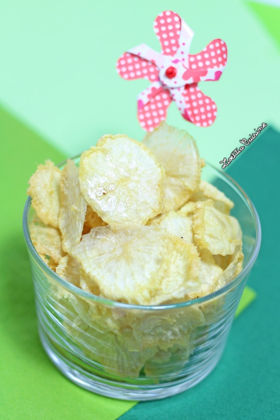 Chips de radis blanc