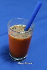 Bubbles cocktail vodka, carotte et caviar végétal{vegan}