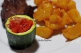 Courgettes farcies à la tomate et auxéchalotes