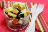 Salade de pommes-de-terre aux abricots du Valais et alguenori