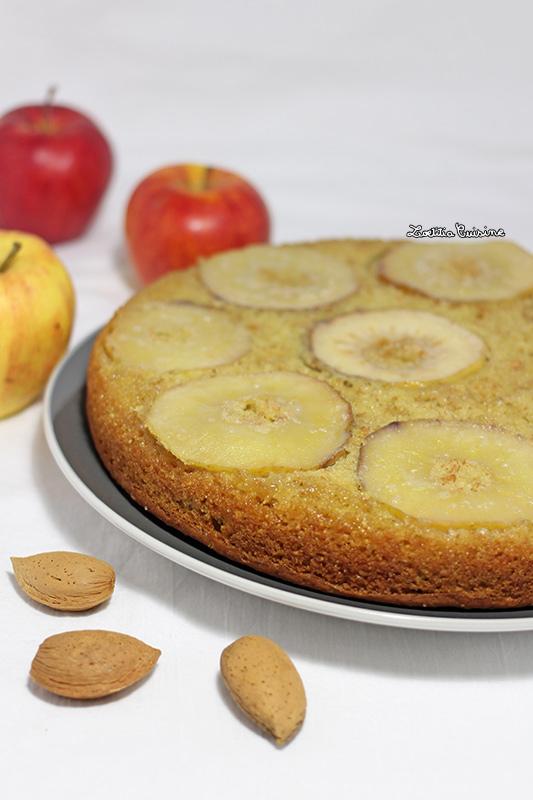 Moelleux aux pommes et à la pâte d'amande