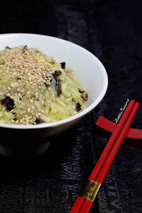 Salade de rave à la pomme d'inspiration japonaise