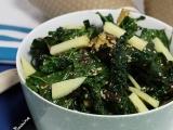 Salade de chou palmier aux oignons caramélisés et sésame{Vegan}
