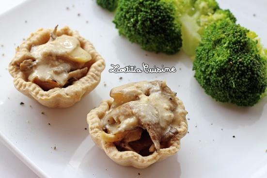 Tartelettes de chanterelles sauce fromagère
