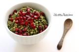 Salade de lentilles vertes germées et grenade {Raw etVegan}