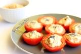 Tomates crues farcies à la purée de chou-fleur{Vegan}