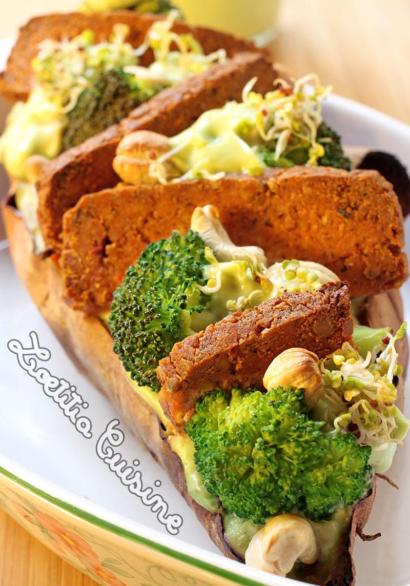 patate douce farcie id e pour repas de f te v gane loetitia cuisine vegan. Black Bedroom Furniture Sets. Home Design Ideas