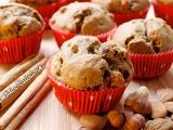 Muffins à la cannelle et aux fruits secs{Véganes}