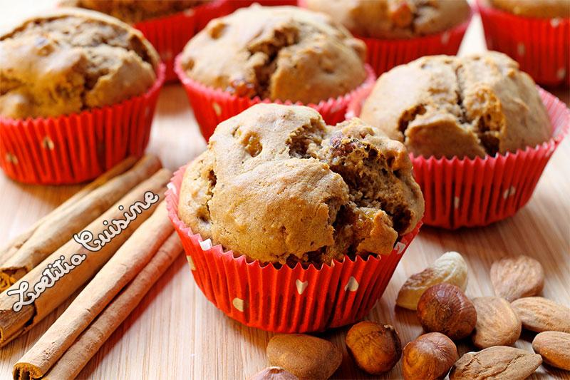 Muffins à la cannelle et aux fruits secs